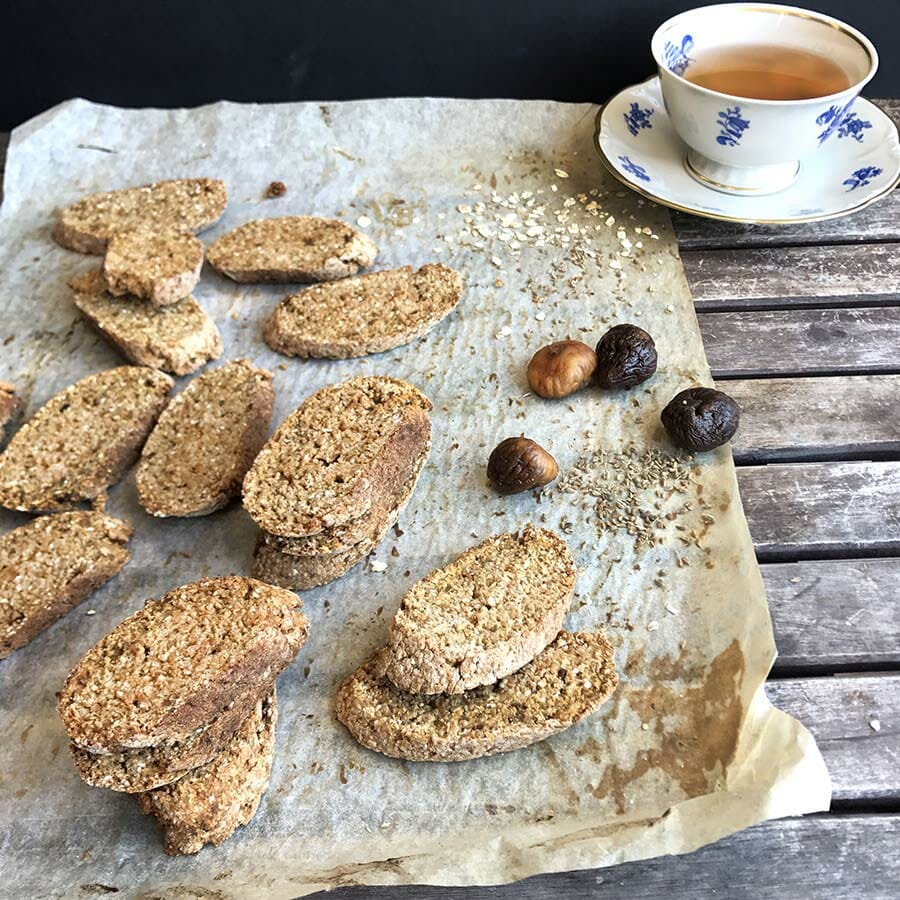 Fig Anise Biscotti | Food photography and vegan baking recipe by Jennifer | Miss Walter's | www.misswalters.com